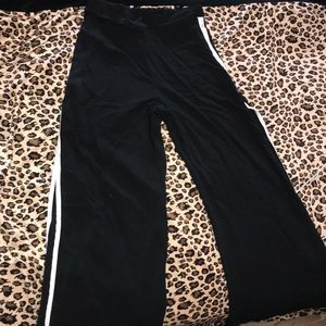 Wide leg black pants